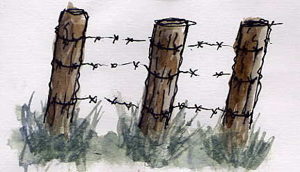Barb Wire Fence doodle